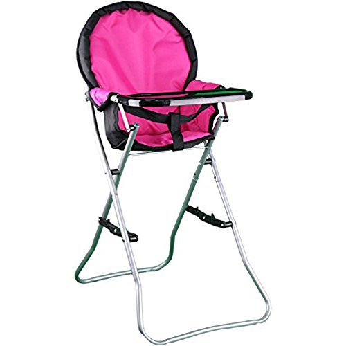 (Mommy & Me Doll Collection High Chair, Pink, 25