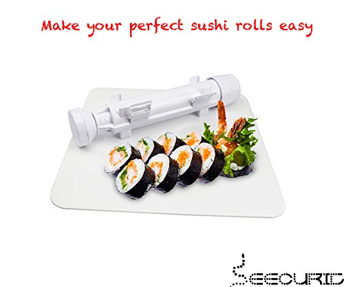 Sushi bazooka roller and sushi delimiter all in one sushi for Perfect kitchen sharjah