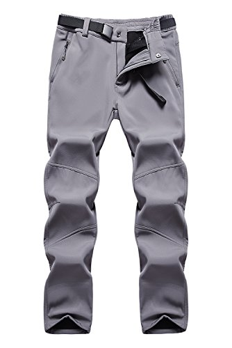 Anlamb Women's Outdoor Waterproof Windproof Fleece Cargo Snow Ski Hiking Pants US1613W Darkgrey L by Anlamb