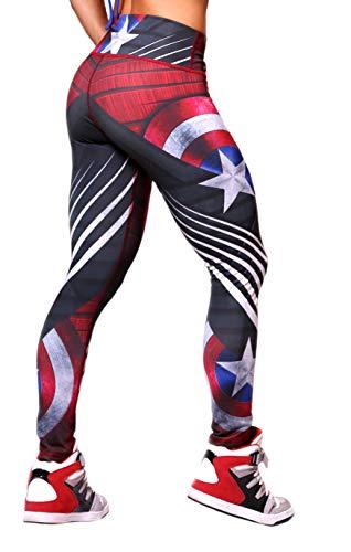 Active4U Superhero Crossfit Leggings Women Colombian Yoga Pants