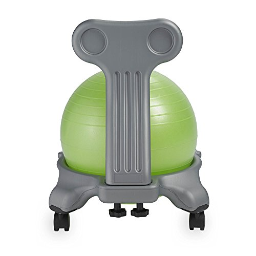 Gaiam Kids Balance Ball Chair - Classic Children's Stability Ball Chair, Alternative School Classroom Flexible Desk Seating for Active Students with Satisfaction Guarantee, Green by Gaiam (Image #3)