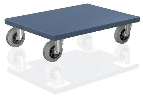 BB-Verpackungen XL, Möbelroller 600 x 500 x 165 mm mit Gummirollen Lenkrollen, 300 kg Traglast - HERGESTELLT IN DEUTSCHLAND Transportroller Rollbrett Möbelhund