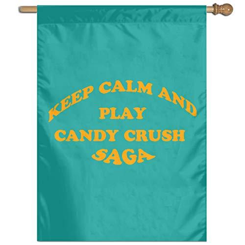 HETTM Flag Keep Calm and Play Candy Crush Saga Premium Material Seasonal Spring Summer Outdoor Funny Decorative Flags 27