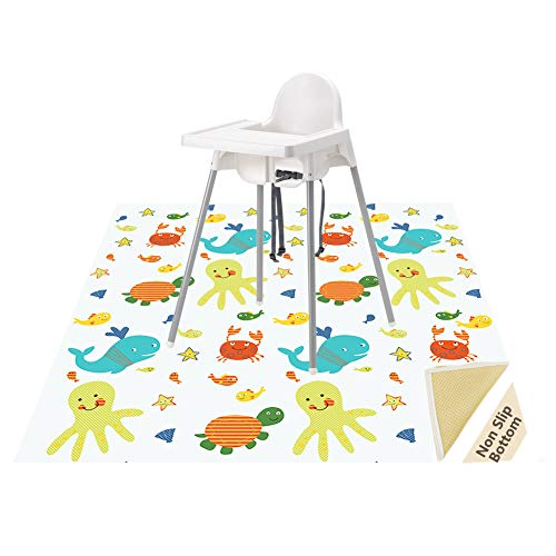 Splat Mat for Under High Chair/Arts/Crafts, Wo Baby Reusable Waterproof...