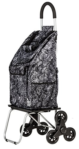 f35b9d53942d dbest products Stair Climber Bigger Trolley Dolly Shopping Cart, Paisley
