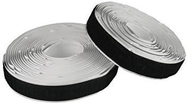 Klettband zum Aufnähen 20mm Flausch /& Haken schwarz 5m