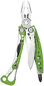 LEATHERMAN, Skeletool Lightweight Multitool with Combo Knife and Bottle Opener,  Green