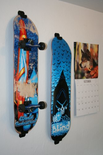 Amazon.com : Skateboard Wall Mount, Display Rack Hanger (Burton White) :  Caster Board Skateboards : Sports & Outdoors