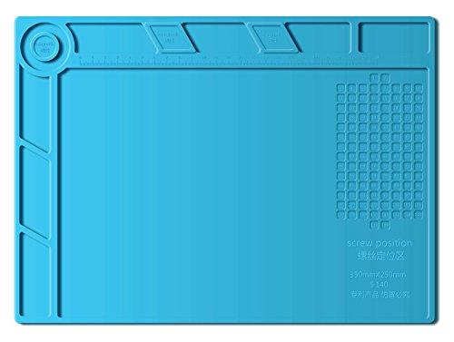 BTSHOW Magnetic Porject Soldering Mat Heat Resist 932°F Silicone Mat Reapir Kit PCB Holder Board for Heat Gun,BGA Soldering Station,Cell Phone Repair Desk Pad Maintenance Platform with Screw Sets