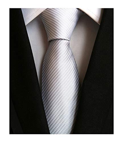 Men's Big Boy Classic Silver Grey Skinny Tie New Year Sunny Wedding Xmas Necktie