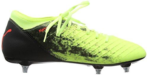 Puma Herren Future 18.4 SG Fußballschuhe Gelb (Fizzy Yellow-Red Blast-Puma Black)