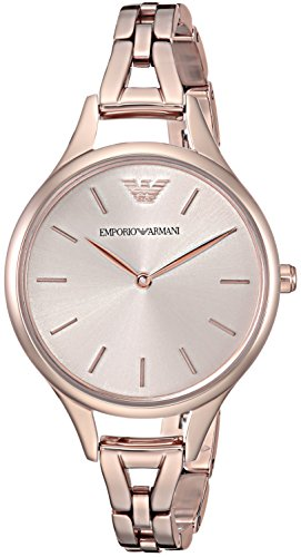 Emporio Armani Women's 'Dress' Quartz Stainless Steel Casual Watch, Color:Pink (Model: AR11055)