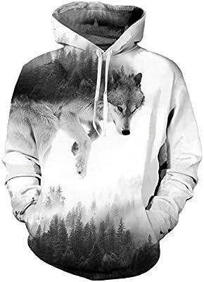 Hoodies Sweatshirt/Men 3D Print Green and White,Monochrome Leaves,Sweatshirts for Women Hoodie Pullover