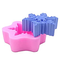 Monqui Snowflake Silicone Mold for Handmade Soap,