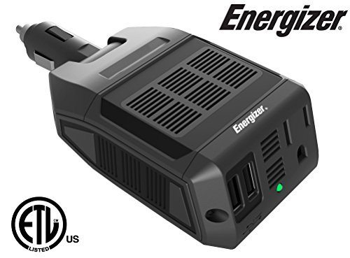 Charger Portable Cell Phone Energizer - Energizer EN100 Ultra Compact DC to AC 100W Direct Plug-in Power Inverter