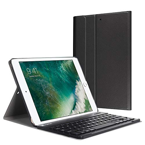(Fintie iPad 9.7 2018 / 2017 / iPad Air 2 / iPad Air Keyboard Case - Slim Shell Stand Cover w/ Magnetically Detachable Wireless Bluetooth Keyboard for iPad 6th / 5th Gen, iPad Air 1 / 2, Black)