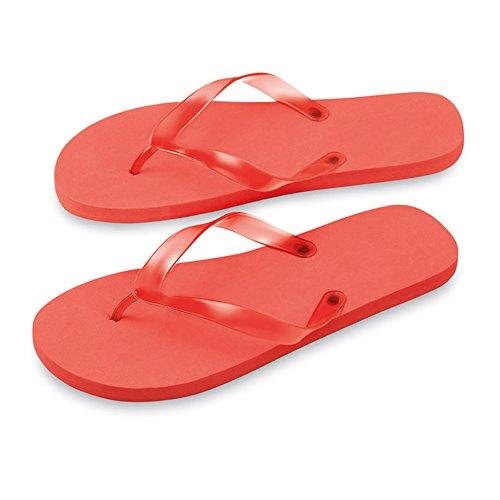 Unbekannt - Sandalias de Material Sintético para mujer Rojo - rojo