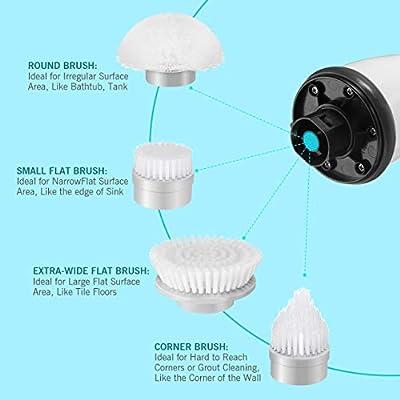 Homitt 4pcs Spin Scrubber Ersatzbürsten Ersatz Brush Köpfe geeignet für...,