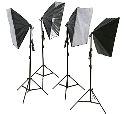 ePhoto 4PCS Lighting Softbox Photography Photo Equipment Soft Studio Photo Vidoe Light Tent Box Kit H9010S4 by Ephotoinc