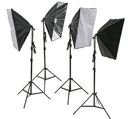 ePhoto 4PCS Lighting Softbox Photography Photo Equipment Soft Studio Photo Vidoe Light Tent Box Kit H9010S4