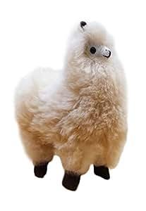 """100% Baby Alpaca Fur Artist Llama One of a Kind 10"""" X 7"""" Beige"""