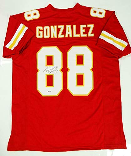Autographed Tony Gonzalez Jersey - Red Pro Style Beckett *L8 - Beckett Authentication - Autographed NFL Jerseys