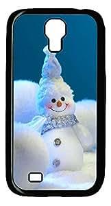 Galaxy S4 Case, Unique Design Protective Hard PC Black Christmas Cute Snowan Case Cover for Samsung Galaxy S4