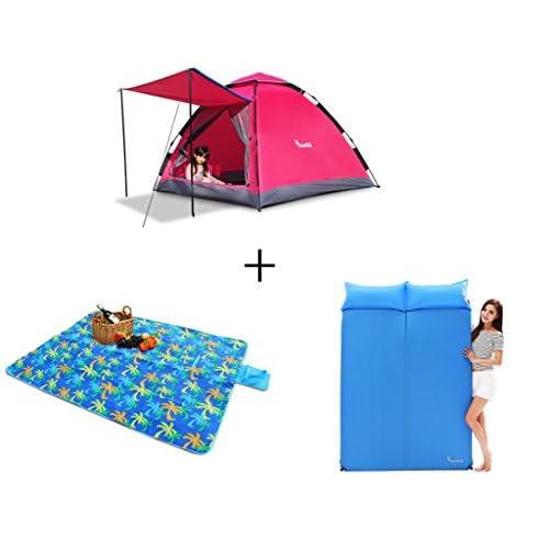 3-4 personnes Protection solaire à l'ombre Anteroom Style Outdoor Camping Tente entièrement automatique 1,6 mètres de haut Grand espace imperméable à l'eau