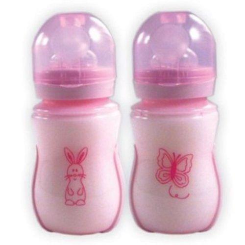 Nurtria BPA Free Wideneck Bottle, Pink, 8 Ounce, 2 Pack, Baby & Kids Zone