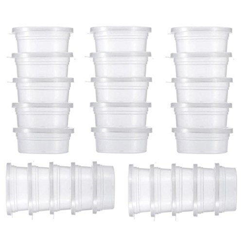 Ikevan 100, 4 X 25 Pc Slime Storage Containers Foam Ball Storage Cups Containers With Lids by Ikevan