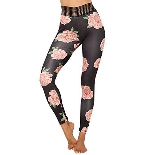 Pleated Brushed Twill Slack - Botrong Women's Casual Pocket Print Pleated Stitching Fitness Yoga Sports Leggings (Black,M)