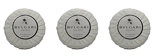 Bvlgari Bulgari Au the Blanc White Tea Pleated Soaps – Set of 3, 150 gm 5.3 oz each