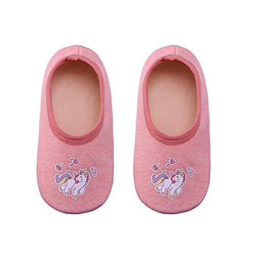 FANZERO Baby Toddler Boys Girls Cotton Cute Cartoon Animal Non Skid Slippers Newborn Infant Warm Winter Crib Shoes (XL /24-36 Months, Unicorn)
