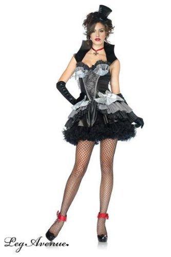 Leg Avenue Women's Queen Of Darkness Costume, Black/Gray, Large - Queen Of Darkness Costume