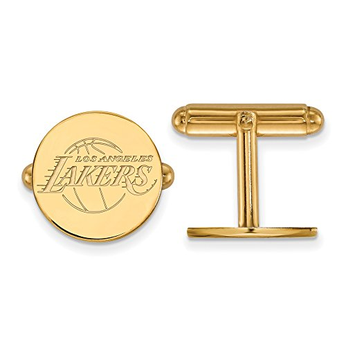 NBA Los Angeles Lakers Cuff Links in 14K Yellow Gold by LogoArt