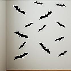 13 Bats Decals Stickers Halloween