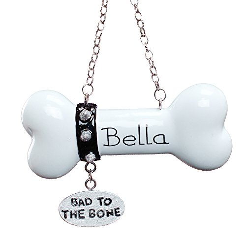 GiftsForYouNow Bad to The Bone Dog Personalized Christmas Ornament