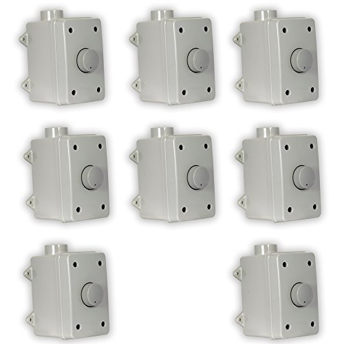 Theater Solutions OVCDG Outdoor Volume Controls Gray Weatherproof Dial 8 Control Set by Theater Solutions