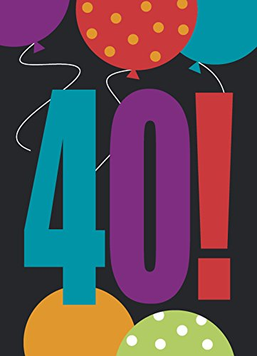 Birthday Cheer 40th Birthday Party Invitations, 8ct -