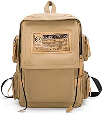 Women's Backpack Preppy Large Capacity Canvas Backpack Interior Slot Pocket Bags Structure