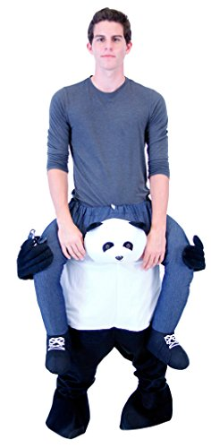 Costume Agent Men's Piggyback Panda Ride-On Costume, Panda, Adult Plus