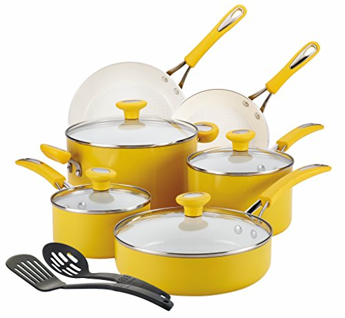 yellow pots and pans set - 2