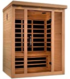 DYNAMIC SAUNAS Dynamic Porto 3-person Low EMF Far Infrared Sauna NATRUAL