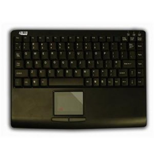 Slimtouch Usb Keyboard - SLIMTOUCH 410 - MINI TOUCHPAD KEYBOARD (BLACK, USB)