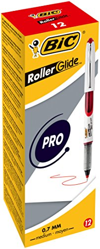 - BiC 537r 0.5mm Needlepoint Tip Liquid Ink Roller Pen - Assorted Colours_Parent 0.7mm - Box of 12