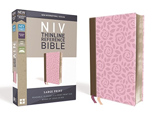 nce Bible, Large Print, Leathersoft, Pink/Brown, Red Letter Edition, Comfort Print ()