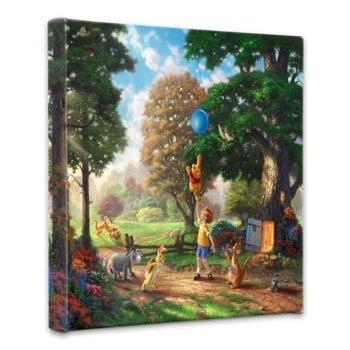 Thomas Kinkade Winnie the Pooh II 14x14 Gallery Canvas Wrap