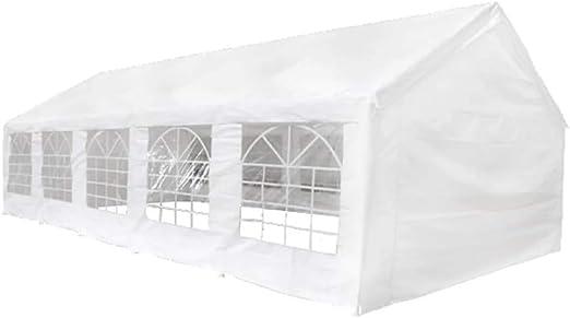 vidaXL Tienda de Fiesta de Jardín con Ventanas Lona PP Blanca 10x5 m Carpa: Amazon.es: Jardín