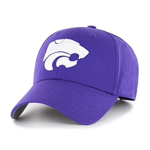 State Wildcats Cap - NCAA Kansas State Wildcats NCAA OTS All-Star Adjustable Hat, Team Color, One Size