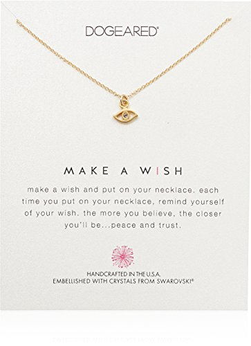 Make Necklace A Dogeared Wish (Dogeared  Make A Wish, Eye Swarovski Crystal Necklace, 16